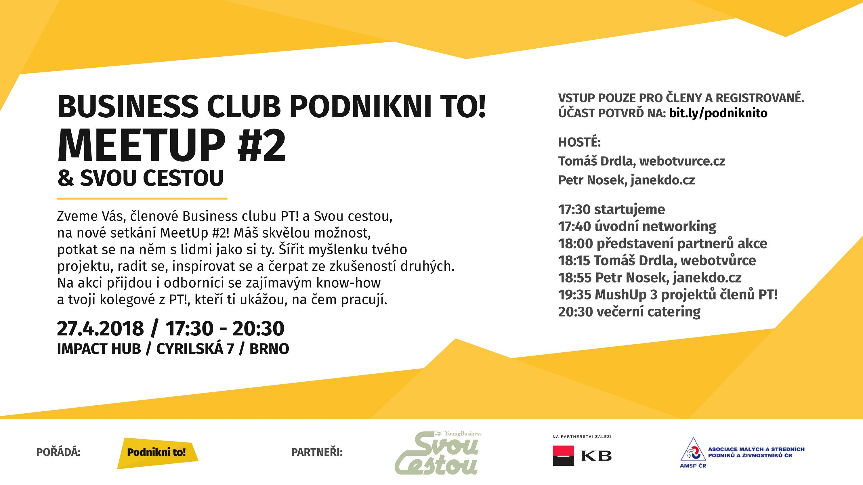První letošní akce SVOU CESTOU je tu! Startujeme v Brně již příští týden