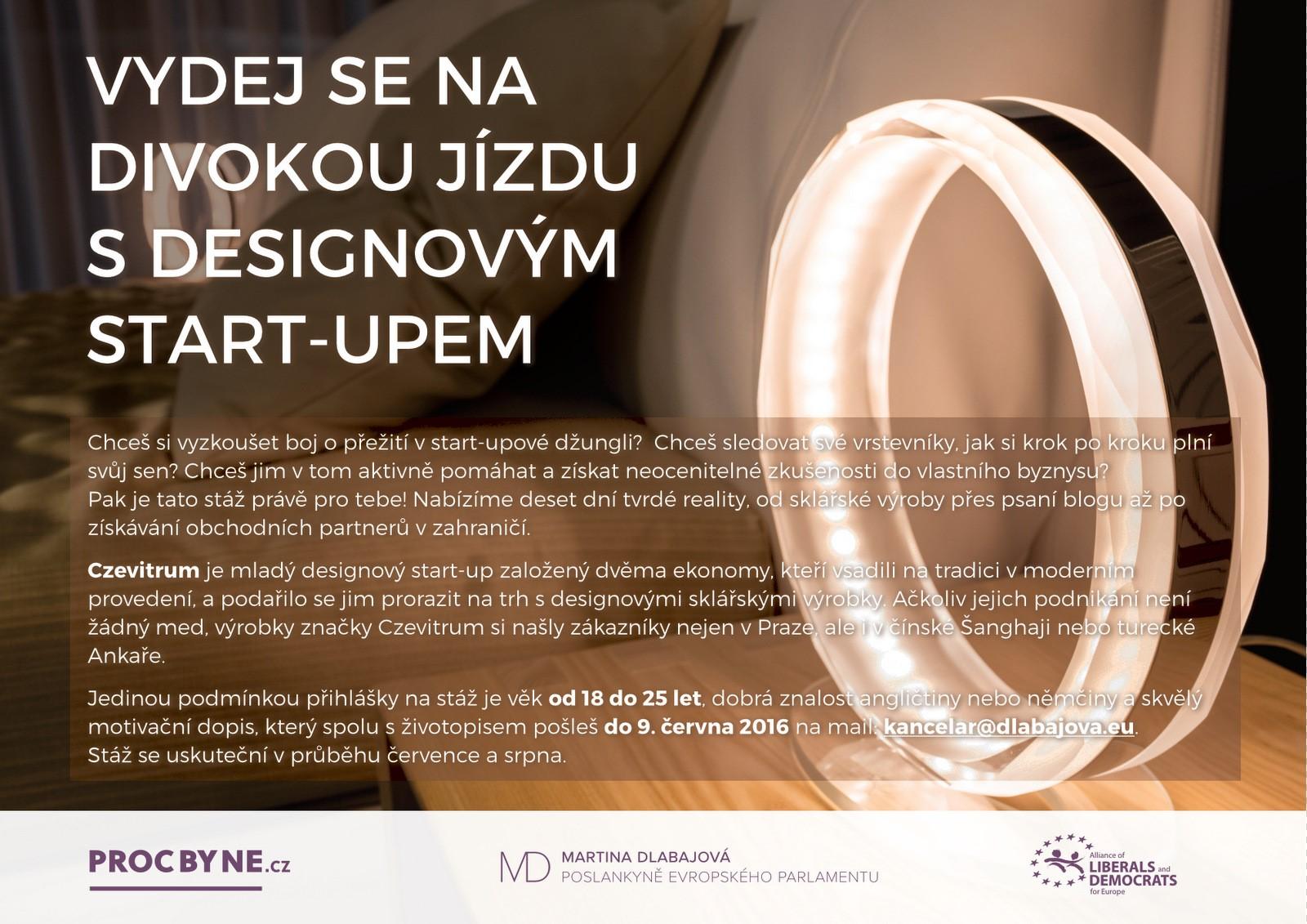 Desetidenní stáž u Czevitrum, vítěze Nastartujte se 2016, v rámci projektu PročByNe?