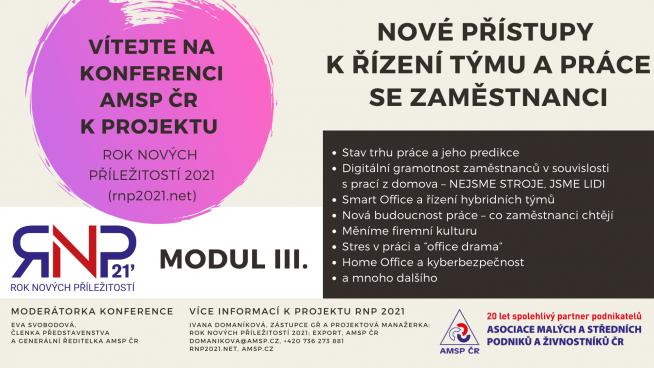 1 Konference RNP21 modul III. úvodní banner